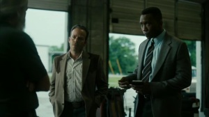 Hunters in the Dark- Roland and Wayne talk with Tom's old factory boss- HBO, True Detective