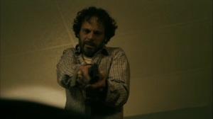 Hunters in the Dark- Tom points a gun at Dan- HBO, True Detective