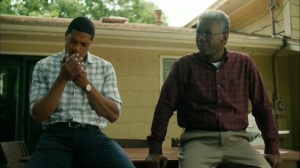 Hunters in the Dark- Wayne asks Henry if he's going to break things off with Elisa- HBO, True Detective