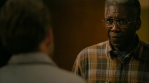 Hunters in the Dark- Wayne asks Roland to look outside- HBO, True Detective