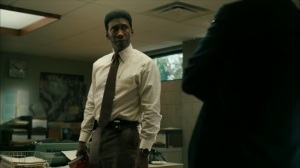 Hunters in the Dark- Wayne is given a narrative on the Purcell case- HBO, True Detective