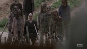 Omega- Alpha leads the Whisperers to the Hilltop- AMC, The Walking Dead