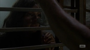 Omega- Daryl offers Lydia some water- AMC, The Walking Dead
