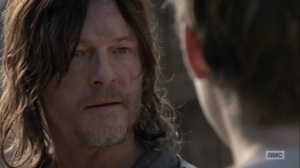 Omega- Daryl warns Henry against telling Lydia about the communities- AMC, The Walking Dead