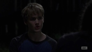 Omega- Henry eats a worm that Lydia offered him- AMC, The Walking Dead