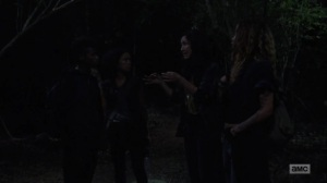 Omega- Kelly tells Yumiko, Magna, and Connie that she wants to keep looking for Luke- AMC, The Walking Dead