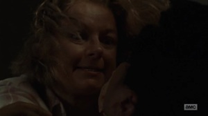 Omega- Lydia's mother suffocates one of the survivors- AMC, The Walking Dead