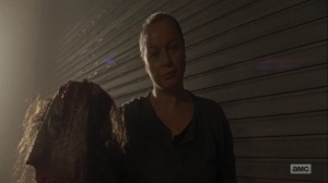 Omega- Lydia's mother tells her to put on the mask- AMC, The Walking Dead