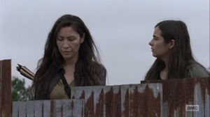 Omega- Tara tells Yumiko that she doesn't want any more people dying- AMC, The Walking Dead