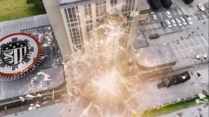 oMens- Andy and Lauren bring down a building- Fox, X-Men, The Gifted