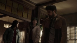 oMens- John, Lorna, and Marcos burn the files- Fox, X-Men, The Gifted