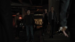 oMens- Marcos, Lorna, Caitlin, and Reed intercept the Frost Sisters- Fox, X-Men, The Gifted