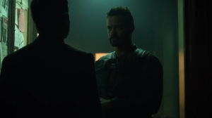 Pena Dura- Jim tells Eduardo about where Ed is going- Fox, Gotham