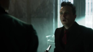 Pena Dura- Oswald tells Ed that he paid Hugo Strange to save him- Fox, Gotham