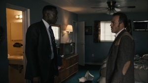 The Final Country- Roland and Wayne in Dan O'Brien's motel room- HBO, True Detective