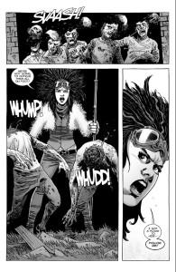 The Walking Dead #188- Princess hacks down some roamers