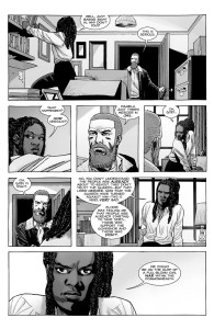 The Walking Dead 188- Rick tells Michonne that Pamela locked up Mercer