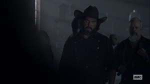 Chokepoint- Angus Sampson as Ozzy, leader of the Highwaymen- AMC, The Walking Dead