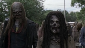 Chokepoint- Beta and Whisperers arrive at the choke point- AMC, The Walking Dead