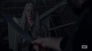 Chokepoint- Carol asks the Highwaymen about the last time they watched a movie- AMC, The Walking Dead
