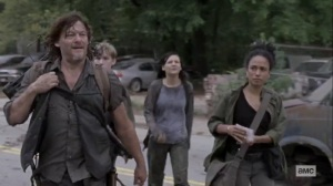 Chokepoint- Connie, Daryl, Lydia, and Henry at the Choke Point- AMC, The Walking Dead