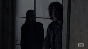 Chokepoint- Daryl tells Lydia to get in the closet- AMC, The Walking Dead
