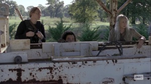 Chokepoint- Dianne, Jerry, and Carol do surveillance on the Highwaymen- AMC, The Walking Dead