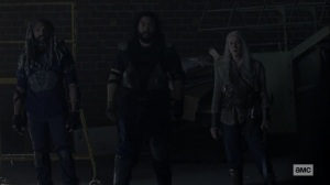Chokepoint- Ezekiel, Jerry, and Carol meet with the Highwaymen- AMC, The Walking Dead