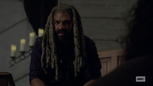 Chokepoint- Ezekiel listens to Jerry talk about his attack- AMC, The Walking Dead