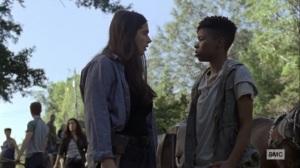 Chokepoint- Kelly tells Tara that she's worried about Connie- AMC, The Walking Dead