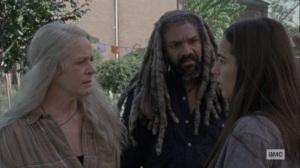Chokepoint- Tara, Carol, and Ezekiel wonder where Henry and Daryl are- AMC, The Walking Dead