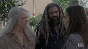 Chokepoint- Tara, Carol, and Ezekiel wonder where Henry and Daryl are- AMC, The Walking Dead