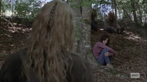 Guardians- Alpha and Lydia arrive at camp- AMC, The Walking Dead