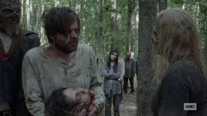 Guardians- Alpha gives a head to one of the Whisperers- AMC, The Walking Dead