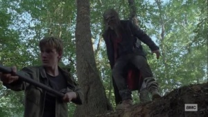 Guardians- Beta, played by Ryan Hurst, about to attack Henry- AMC, The Walking Dead