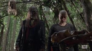 Guardians- Beta removes Alpha's mask- AMC, The Walking Dead