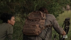 Guardians- Daryl and Connie observe some walkers- AMC, The Walking Dead