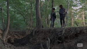 Guardians- Daryl, Connie, and Dog follow Henry's trail- AMC, The Walking Dead