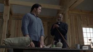 Guardians- Eugene talks with Gabriel about Rosita- AMC, The Walking Dead