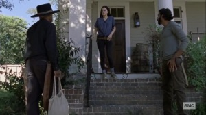Guardians- Gabriel goes to Rosita and Siddiq to make peace- AMC, The Walking Dead