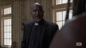 Guardians- Gabriel knows that Michonne would veto a revote- AMC, The Walking Dead