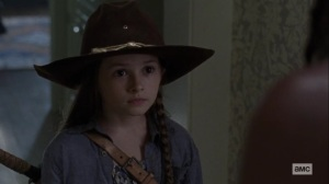 Guardians- Judith says that Negan isn't a monster- AMC, The Walking Dead