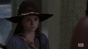 Guardians- Judith tells Michonne that Negan listens to her- AMC, The Walking Dead