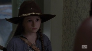 Guardians- Judith tells Michonne that Negan listens to her- AMC, The Walking Dead