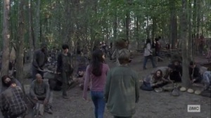Guardians- Lydia and Henry arrive at the Whisperers' camp- AMC, The Walking Dead