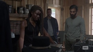 Guardians- Michonne is not willing to open Alexandria's doors yet- AMC, The Walking Dead