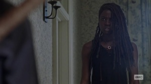 Guardians- Michonne wants to know why Judith spoke with Negan- AMC, The Walking Dead