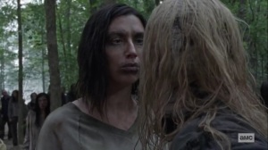 Guardians- One of the Whisperers challenges Alpha- AMC, The Walking Dead