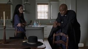 Guardians- Rosita and Gabriel talk about Michonne- AMC, The Walking Dead