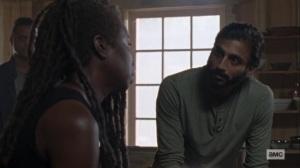 Guardians- Siddiq and Michonne talk about Carol- AMC, The Walking Dead